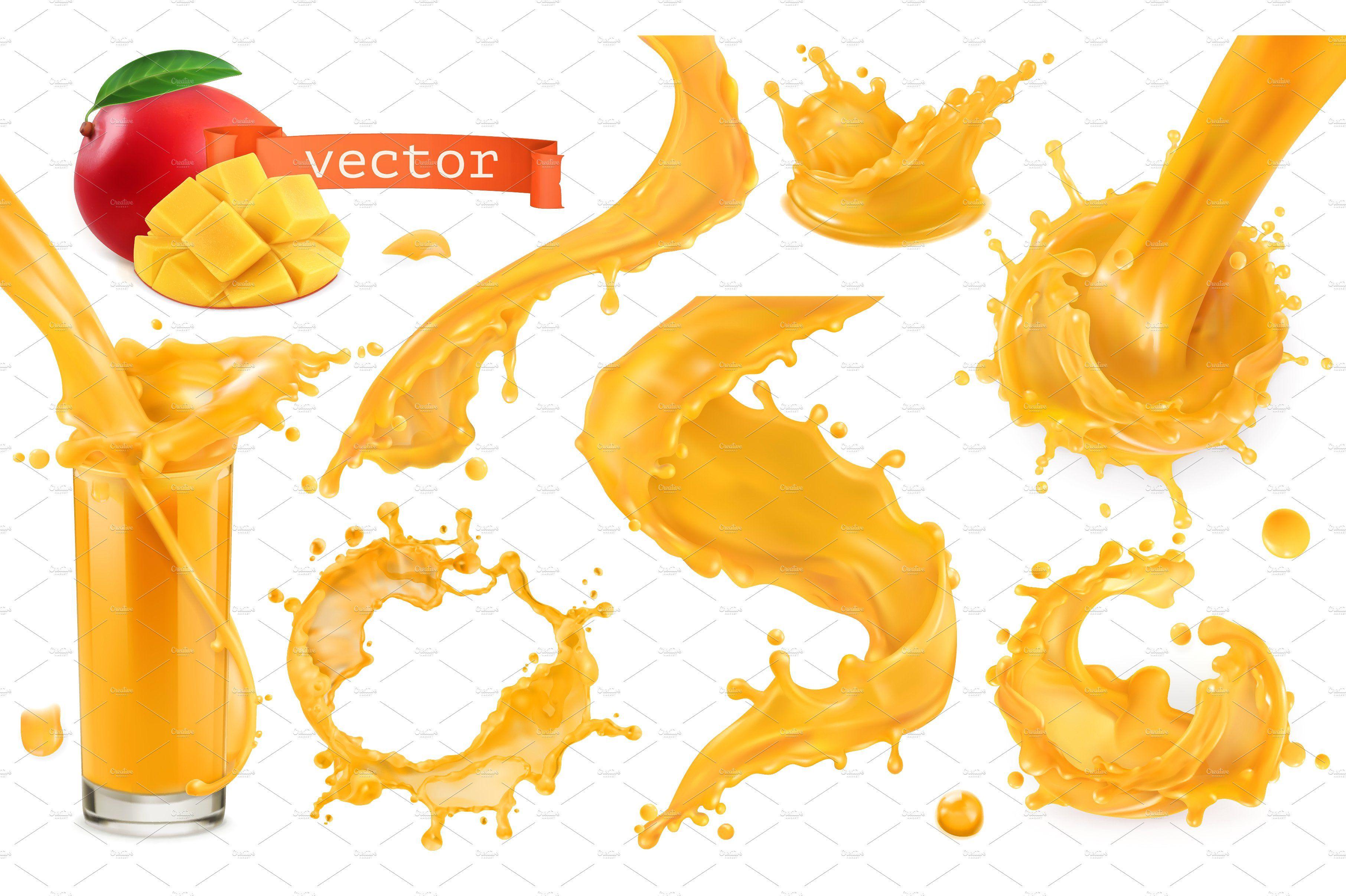 Orange Paint Splash Vector Paint Splash Mango Images Vintage Business Cards Template