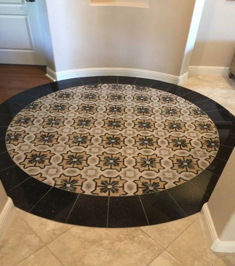 Round area, square tile? No problem! Check out this fabulous ...