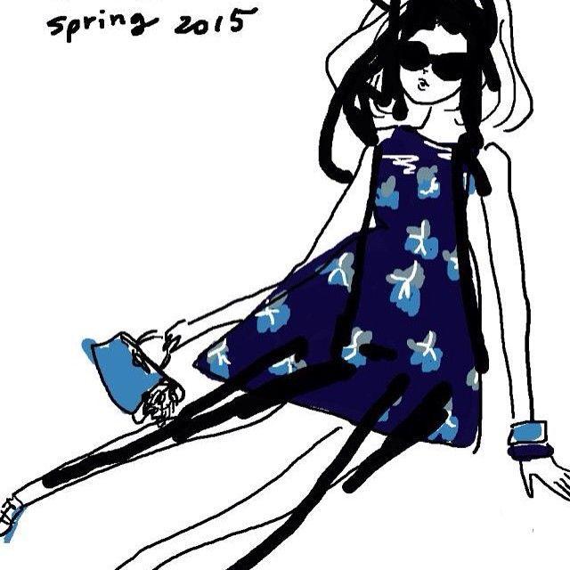 #fendi #spring #2015 #dress #bag #hiramatsu #akiko