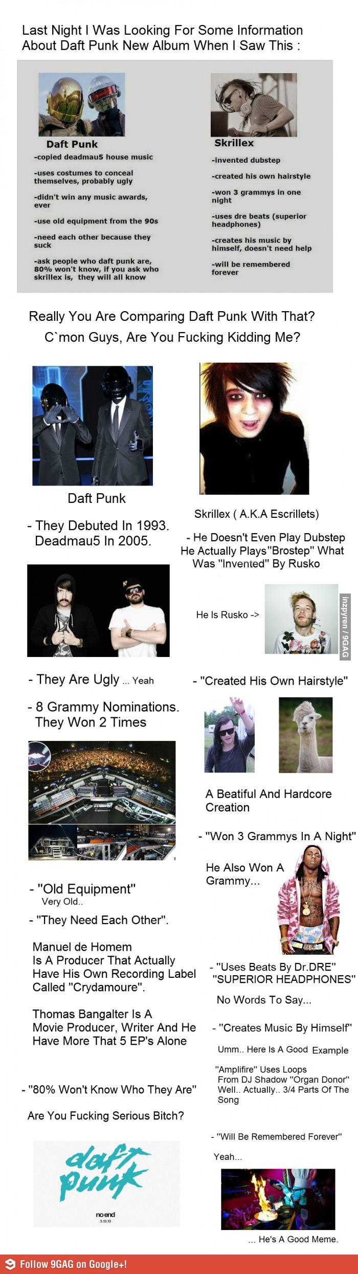 Daft Punk Vs Skrillex Daft punk, Skrillex, Punk