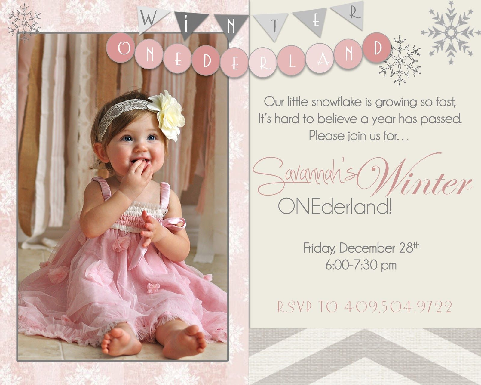 The Crossley\'s: Savannah\'s Winter ONEderland!- girl\'s first bday ...