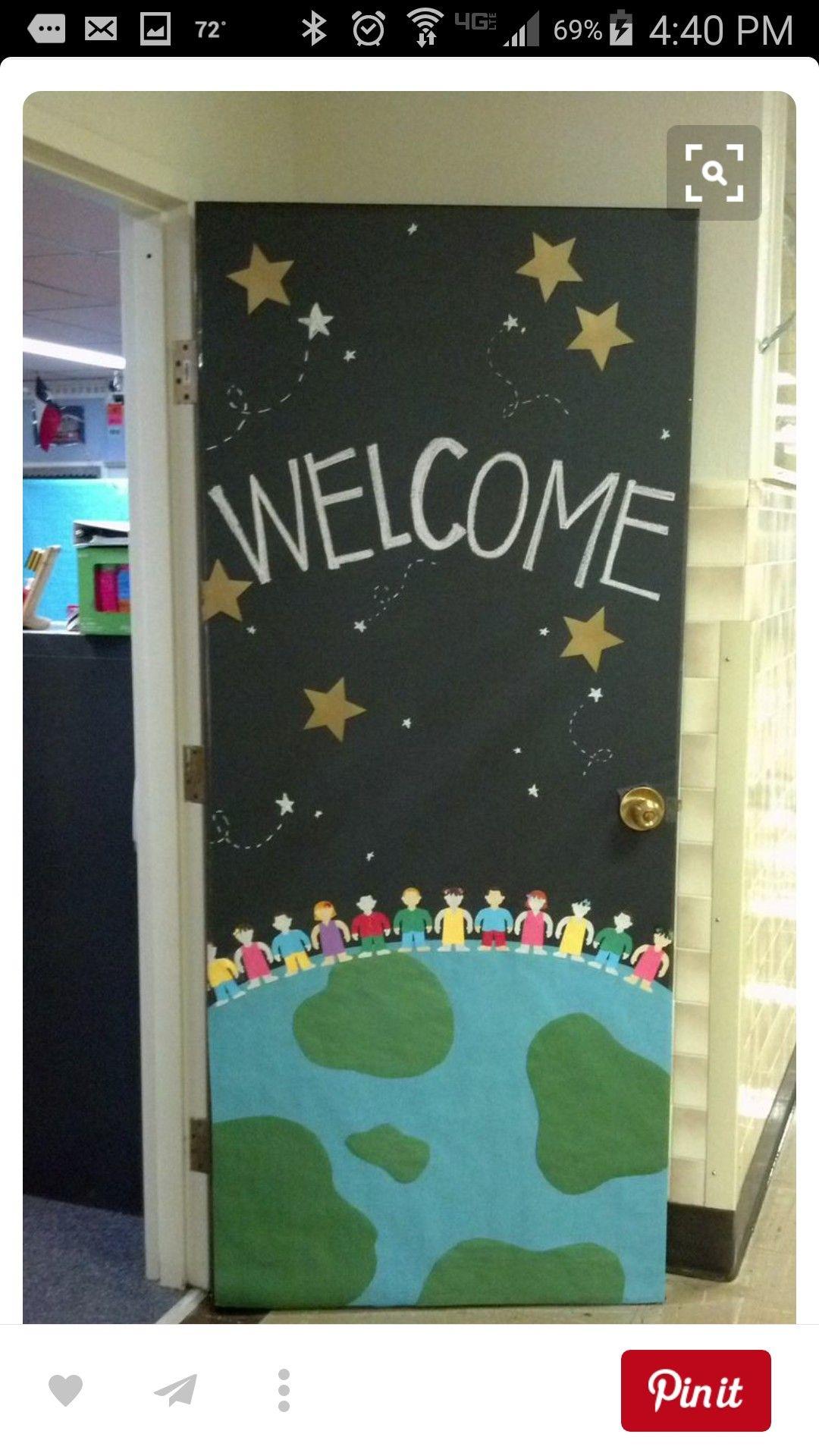 Pin By A Stinnett On Preschool Ideas Space Theme Classroom Door Decorations Classroom Classroom Decor