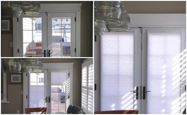 Asap Blinds Before And After Shots Of Top Down Bottom Up Cordless Honeycomb Cellular Shades O Shades For French Doors Door Shades Custom Window Treatments