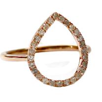 Meredith Marks: white diamonds in rose gold CHLOE ring