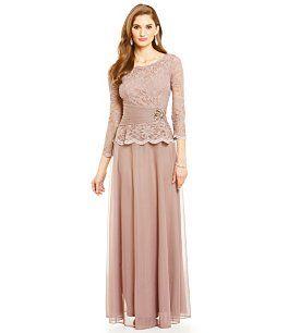 Cachet Faux-2-Piece Lace Top Gown - Stuff to Buy - Pinterest ...