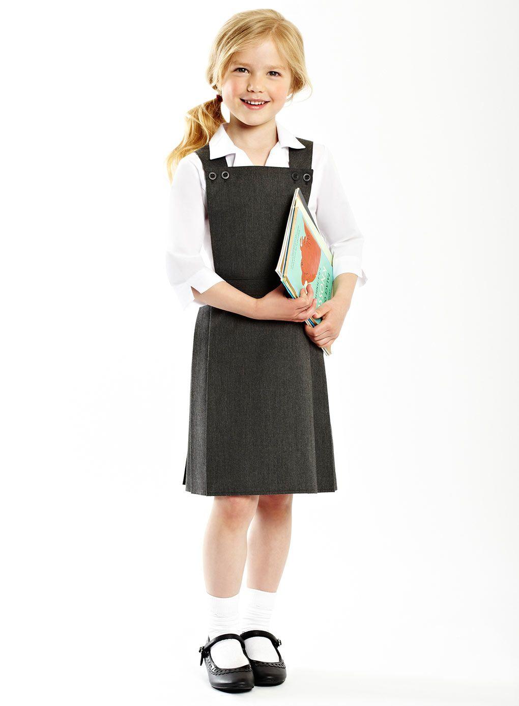 1a927929b Junior Girls Grey Bib Pinafore - junior girls school (3-12) - Children