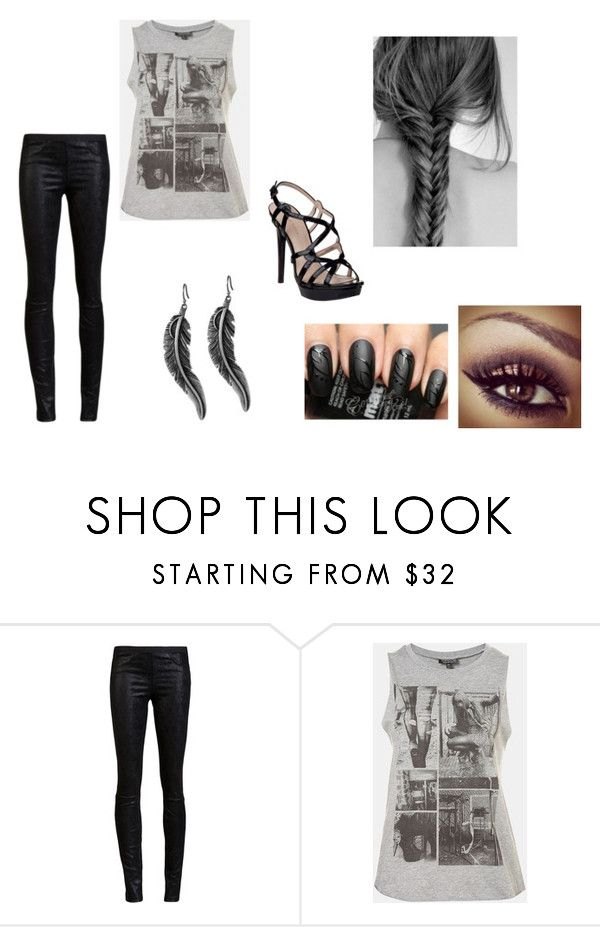 """OS Haley (3)"" by axouille-du ❤ liked on Polyvore featuring Helmut Lang, Lucky Brand, Topshop and Pelle Moda"