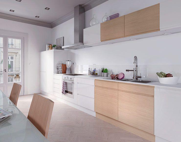 meuble de cuisine epura blanc et chene