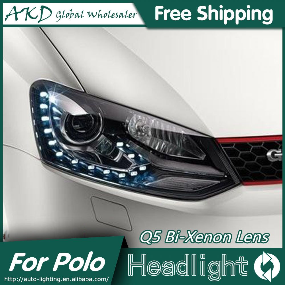 Akd Car Styling For Volks Wagen Polo Led Headlights Original Gti Drl Bi Xenon Lens High Low Beam Parking Fog Lamp Accessori Car Lights Led Headlights Fog Lamps