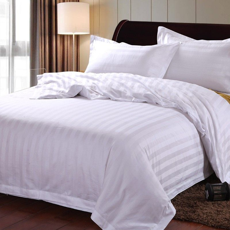 The Hotel Selling 2019 100 Cotton Four Piece White Satin Made In China Hotel Bedding Sets Bedding Sets Hotel Bed