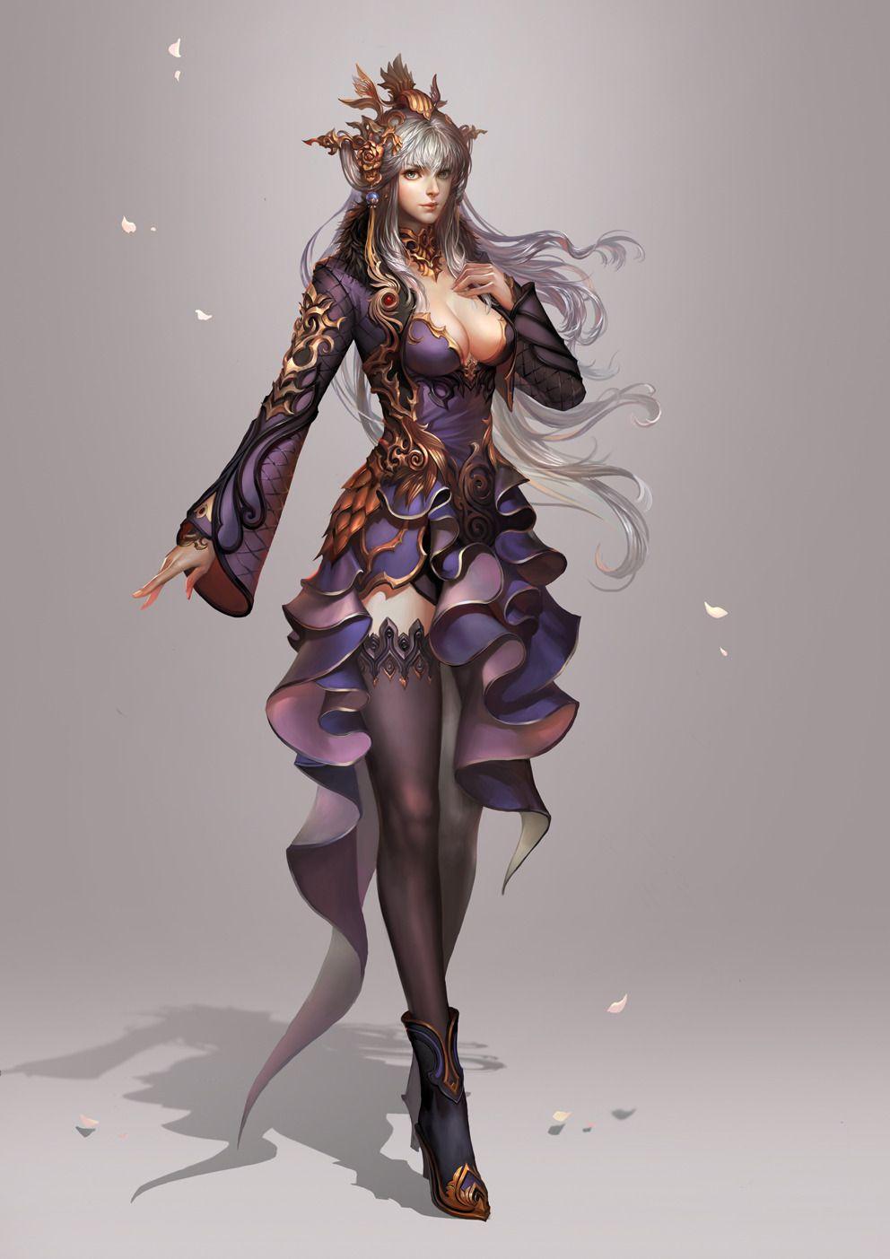 Painted Skin 2d Fantasy Character Girl Woman Girls Art