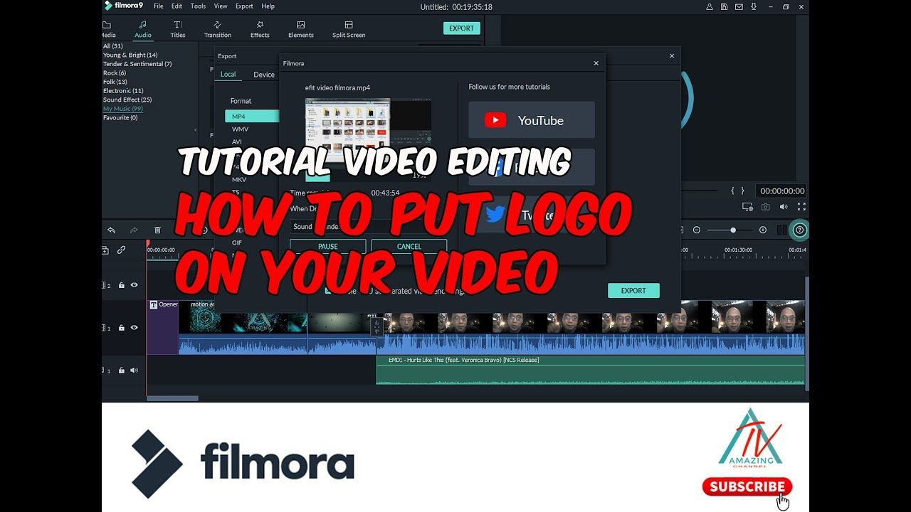 Tutorial Filmora Video Editing Put Watermark On Ur Video Felixrusliph Youtube Mood Photoshop