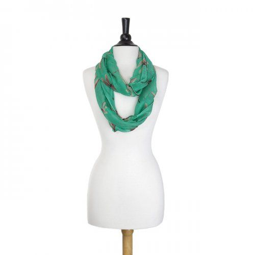 Dragonfly Turquoise Infinity Scarf