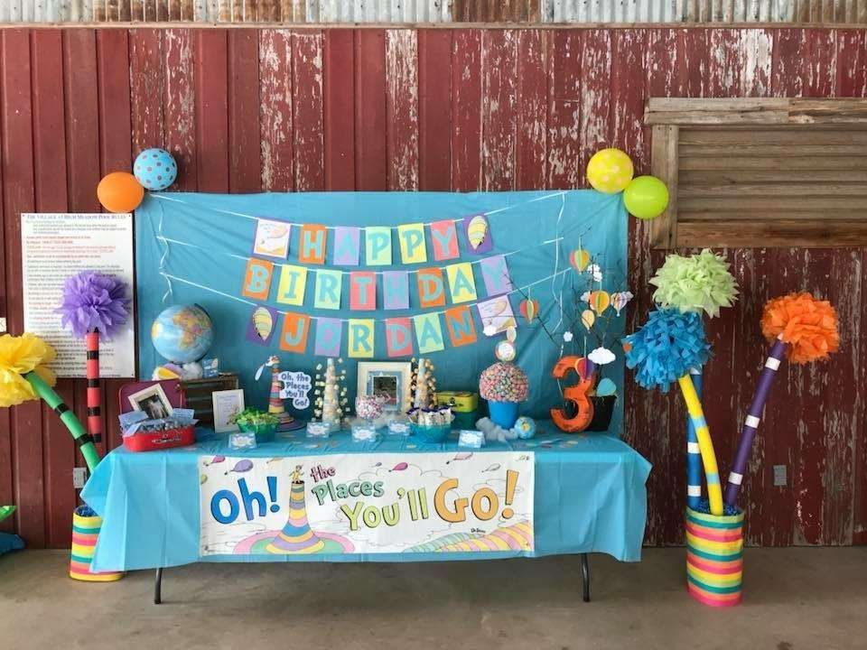 Oh the Places You'll Go Birthday Party Ideas Dr seuss