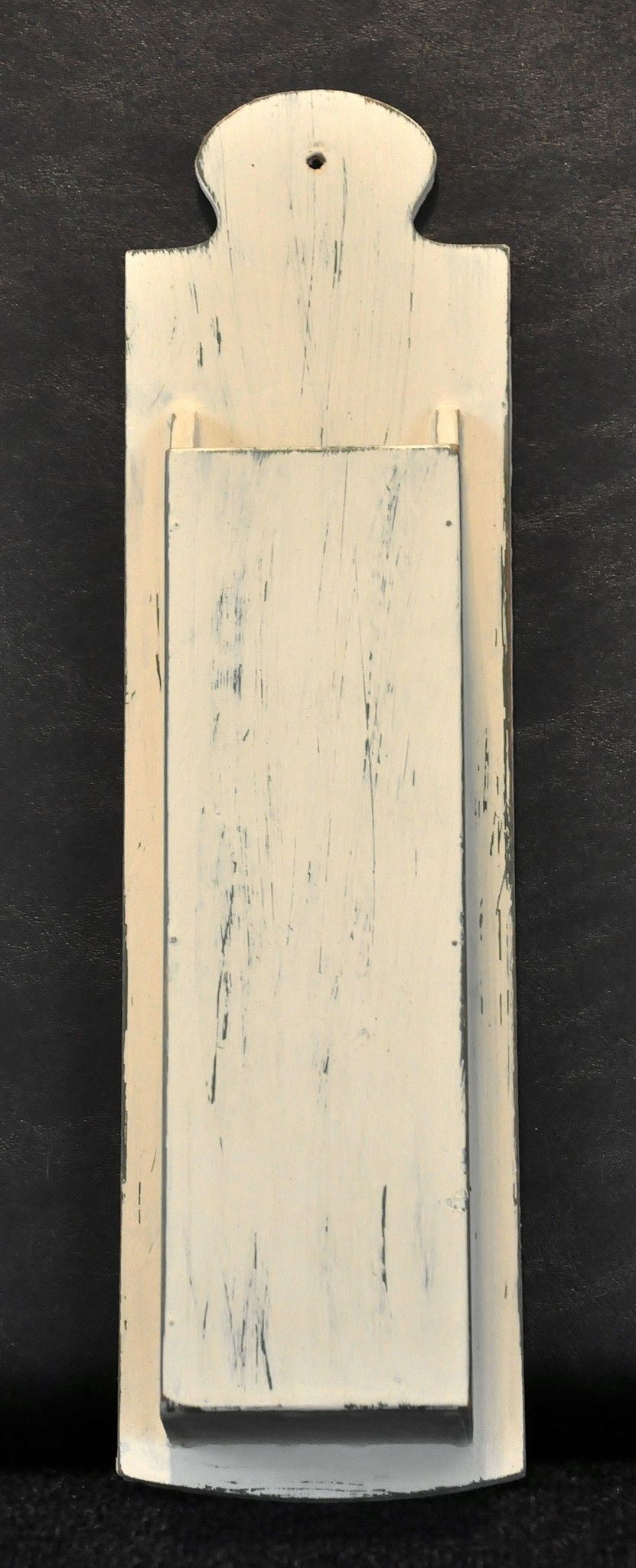 Painted and distressed wooden match box