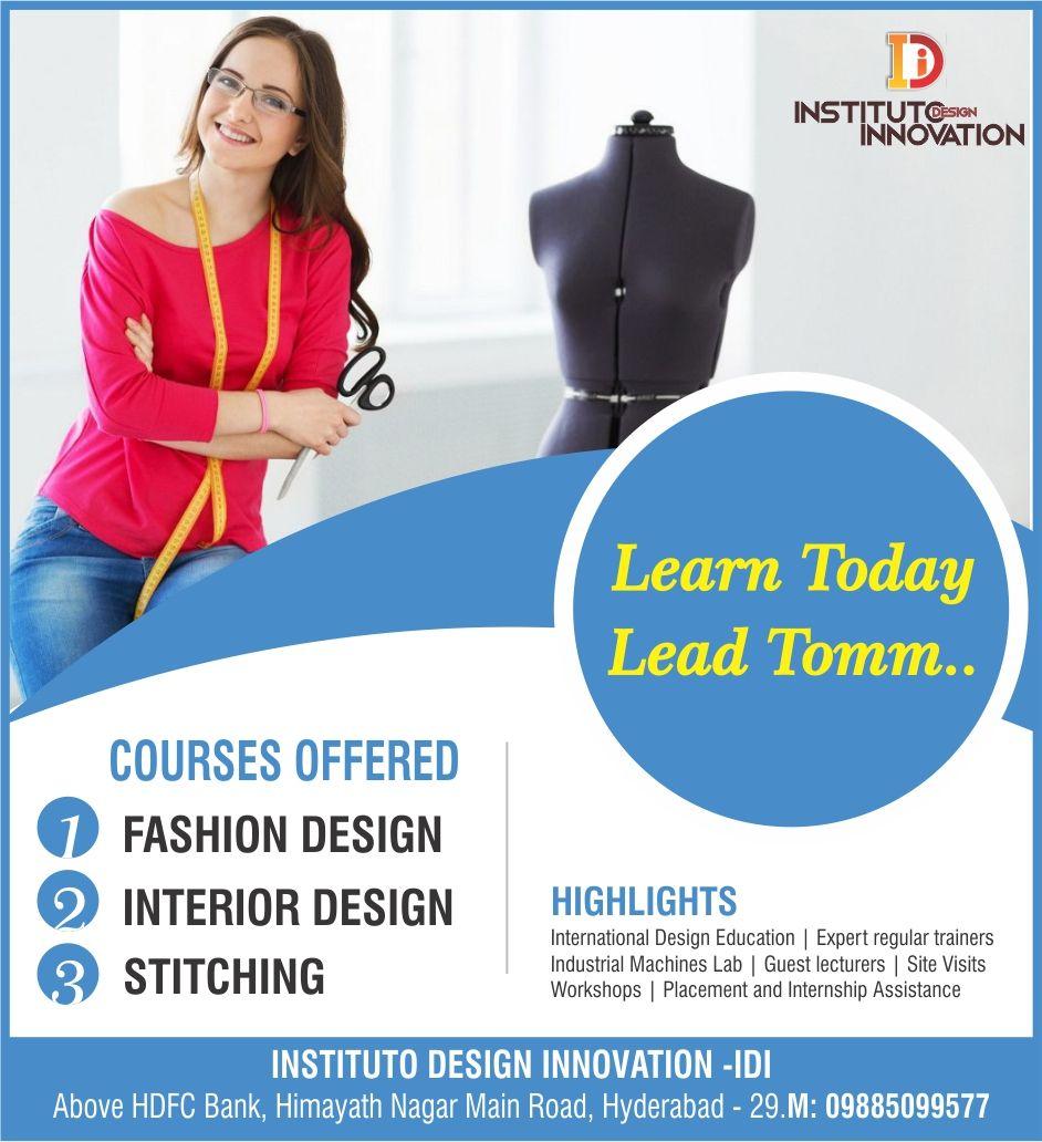 Best Fashion Designing Institute In Hyderabad Fashion Designing Institute Fashion Designing Course Fashion Design