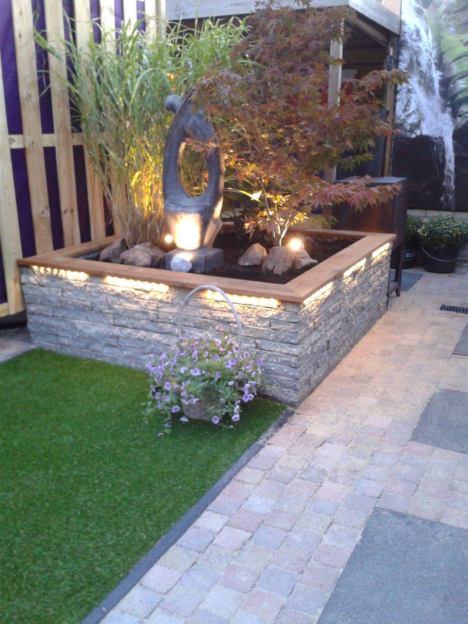 afbeeldingsresultaat voor plantenbak steen | strakke tuin
