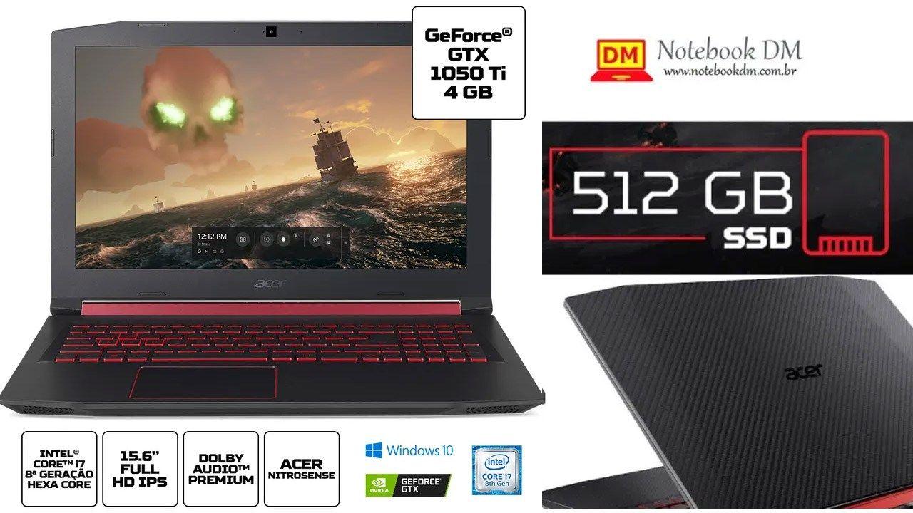 Acer Nitro 5 An515 52 75q8 E Bom Com Imagens Placas De Video