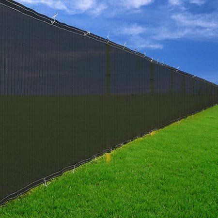 6u0027 X 50u0027 Black Windscreen Fence Screen Mesh Privacy Scrim Fabric Outdoor  Backyard .