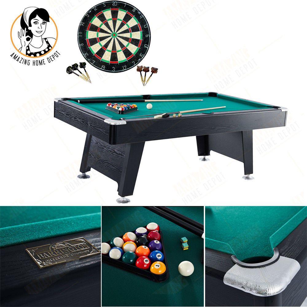Billiard Pool Table Dartboard Set Pocket Ball Stick Arcade Game