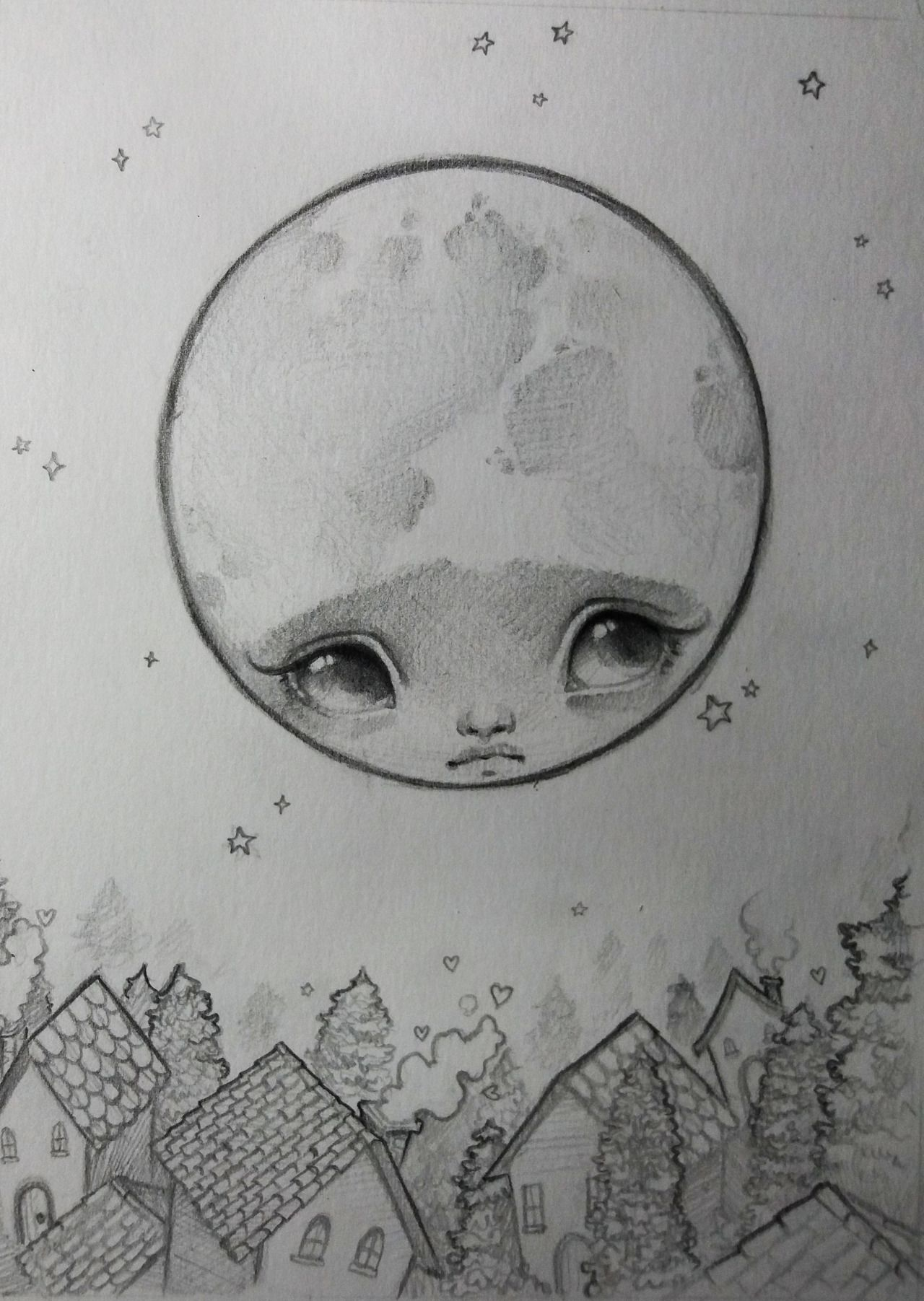 Dibujo De La Luna Llena Arte Love Moon Pencil Love Beautiful Luna Noche Stars Fullmoon Dream Sketch Sketchbook Sketching Art Sketches La Luna