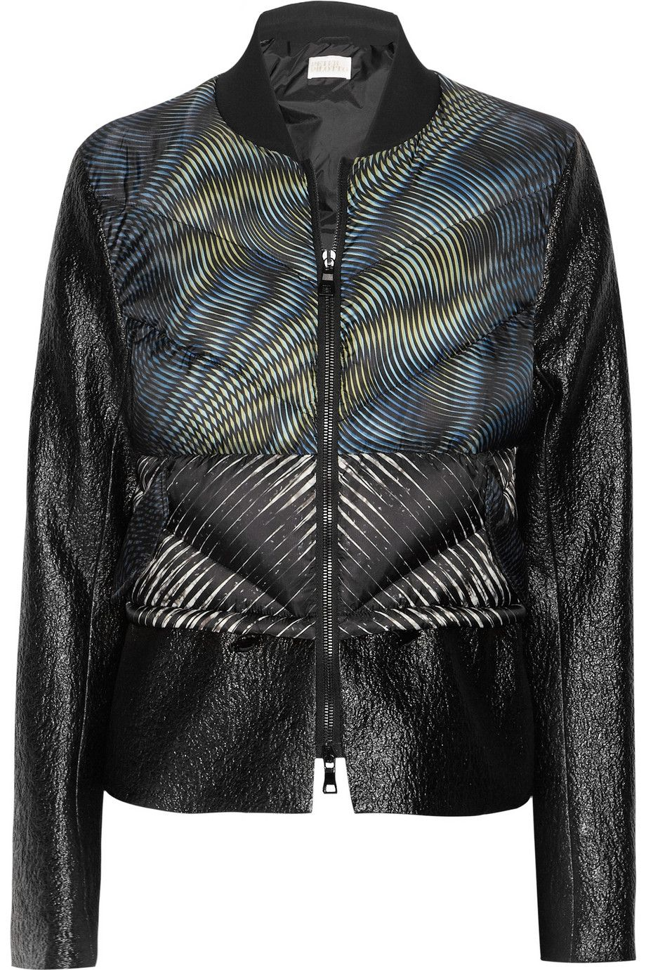 Peter Pilotto | Ri printed quilted and textured jacket