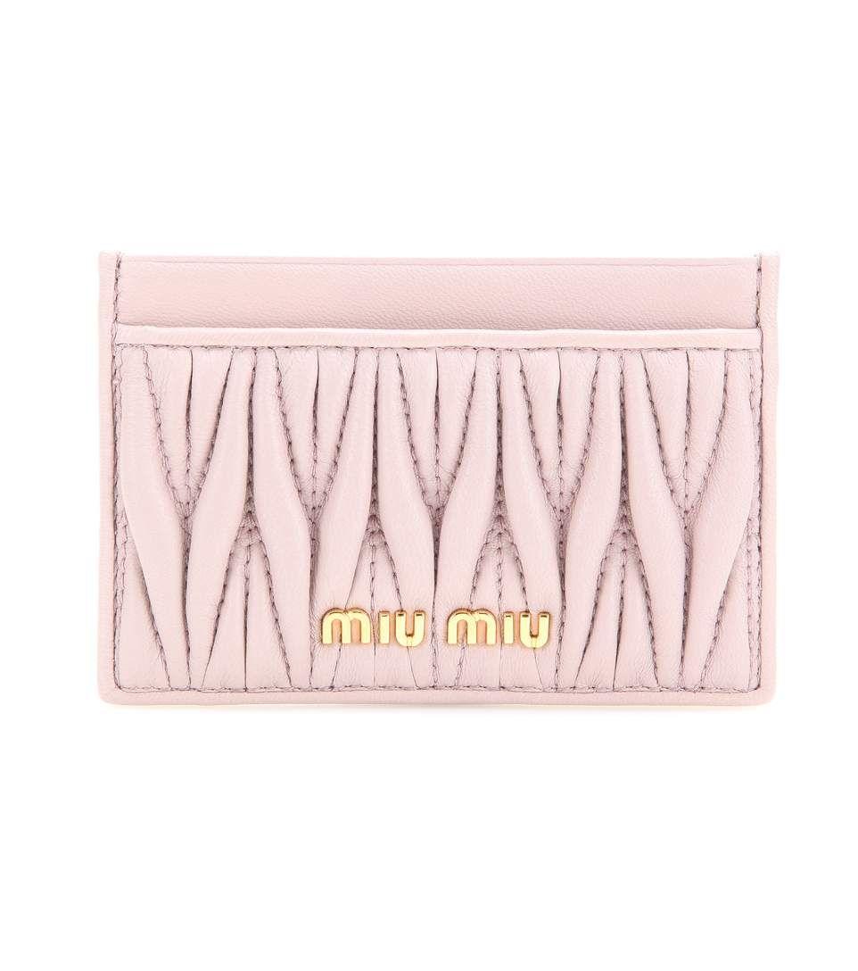 mytheresa.com - Matelassé Leather Card Holder   Miu Miu ¦ mytheresa -  Luxury Fashion for Women   Designer clothing a7d213f0f017b