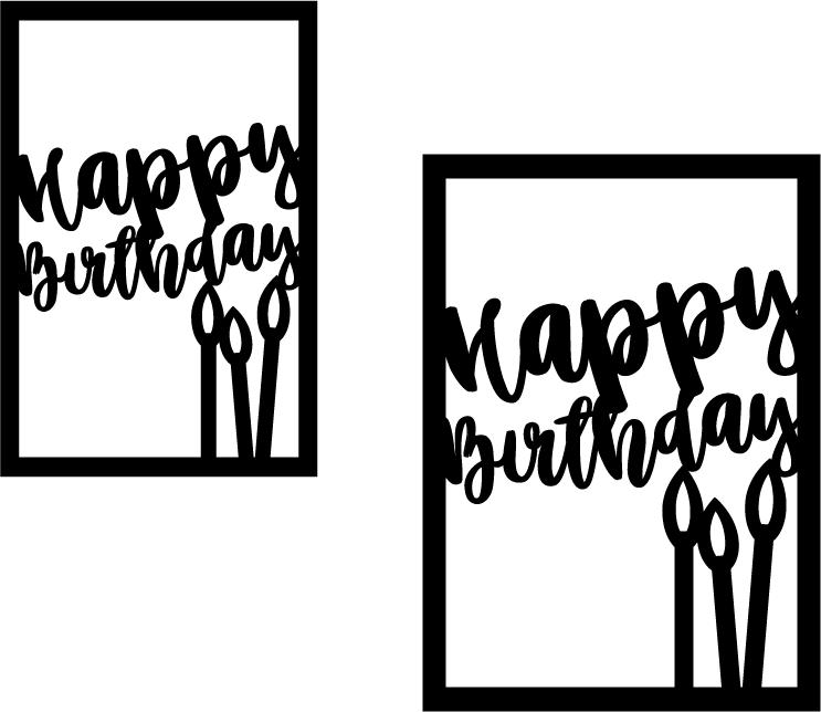 Happy Birthday Card Front Svg Happy Birthday Cards Happy Anniversary Cards Birthday Cards