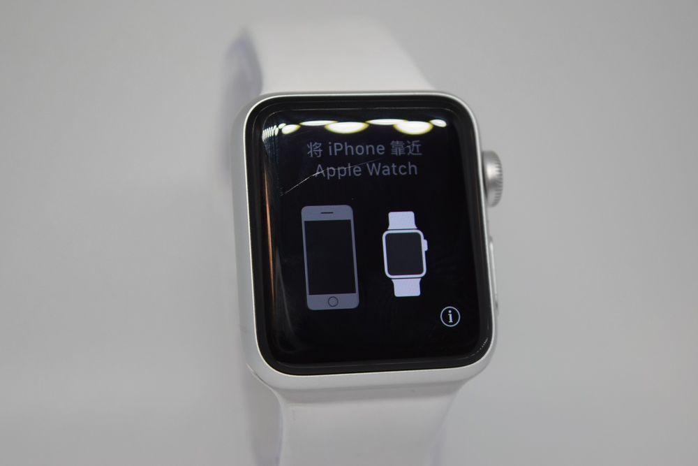 Apple Watch Series 3 38mm Silver Aluminium Case With White Sport Band Gps Ebay Link Apple Apple Watch Apple Watch Series 3