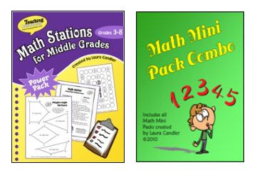 Math Stations for the Middle Grades...ready made printables!!
