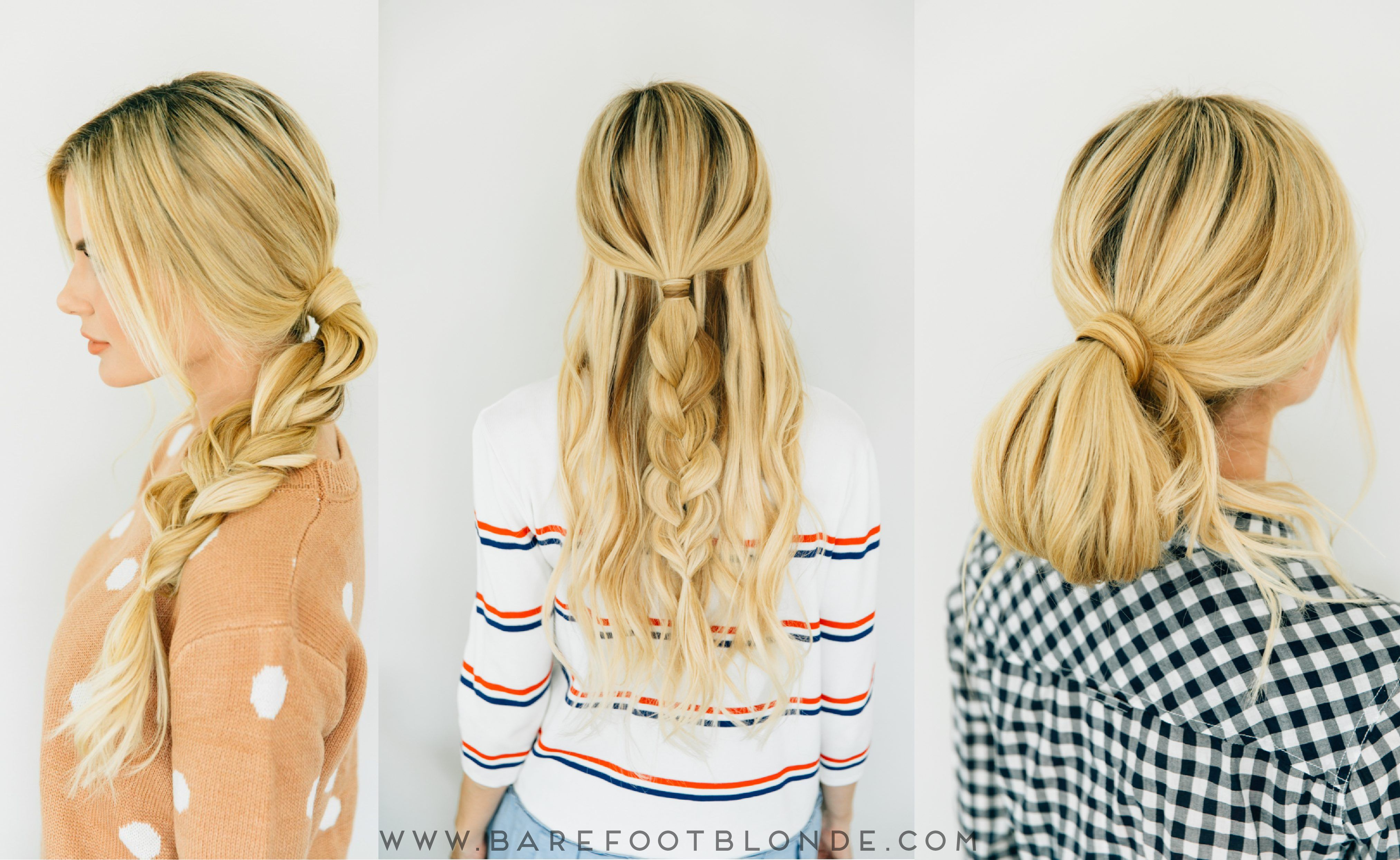 Three easy hairstyles three minutes each easy hairstyles