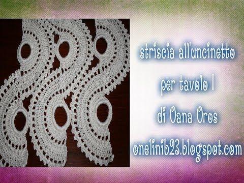 Striscia per tavolo prima parte creazioni varie pinterest crochet craft items and crochet - Striscia uncinetto per tavolo ...