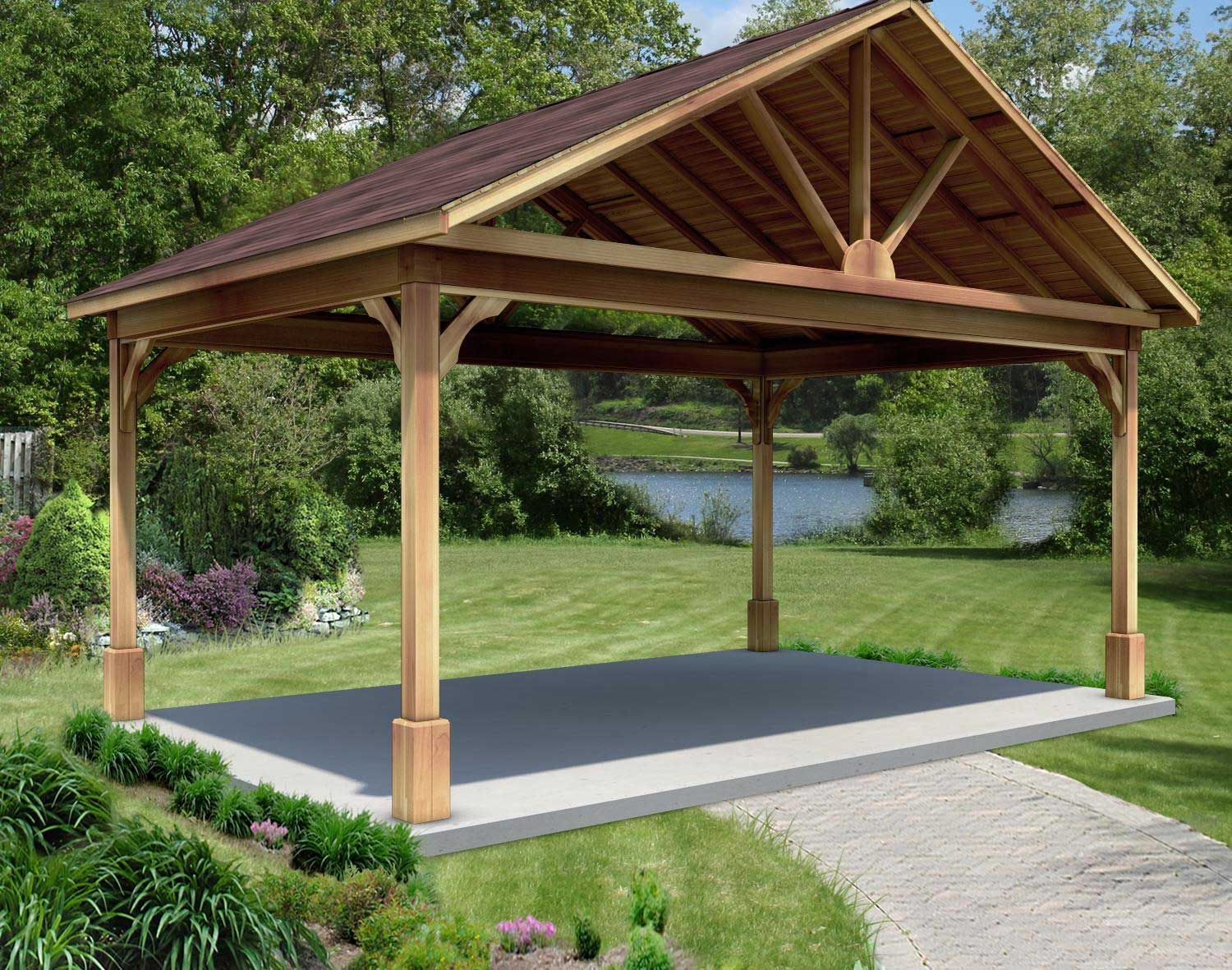Red Cedar Long Gable Ramadas Ramadas By Material