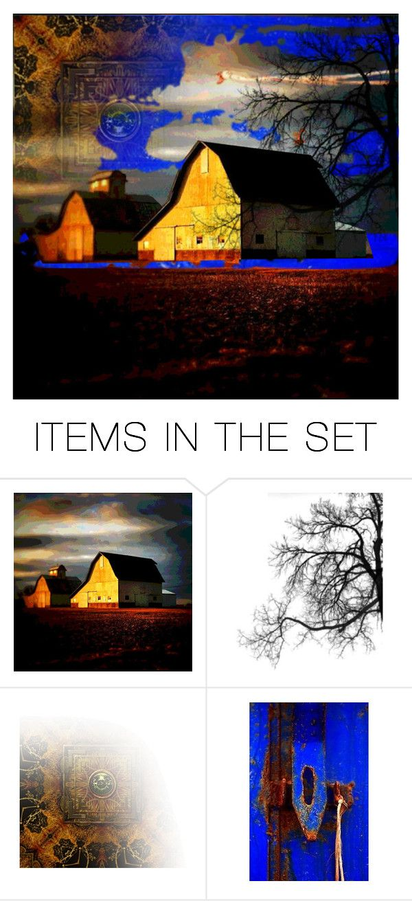 """""""Barn at Dusk"""" by sweetannie ❤ liked on Polyvore featuring art"""