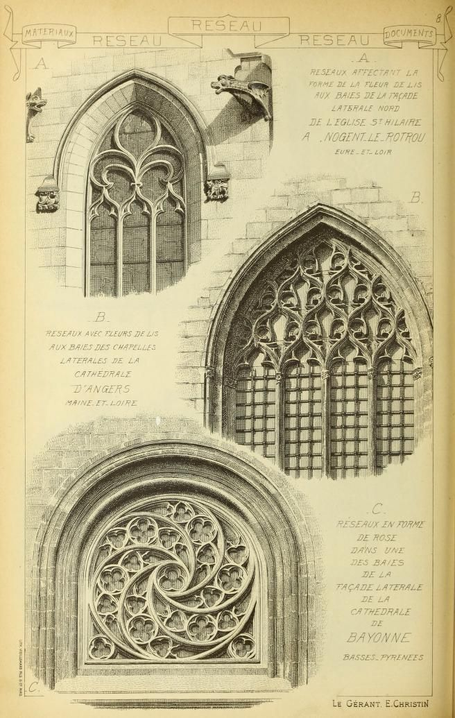Materials and documents of architecture and scu for Gothic design elements