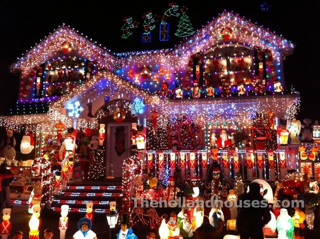 Xmas Decorated Houses Christmas House Lights Tree Light Displays Decorations