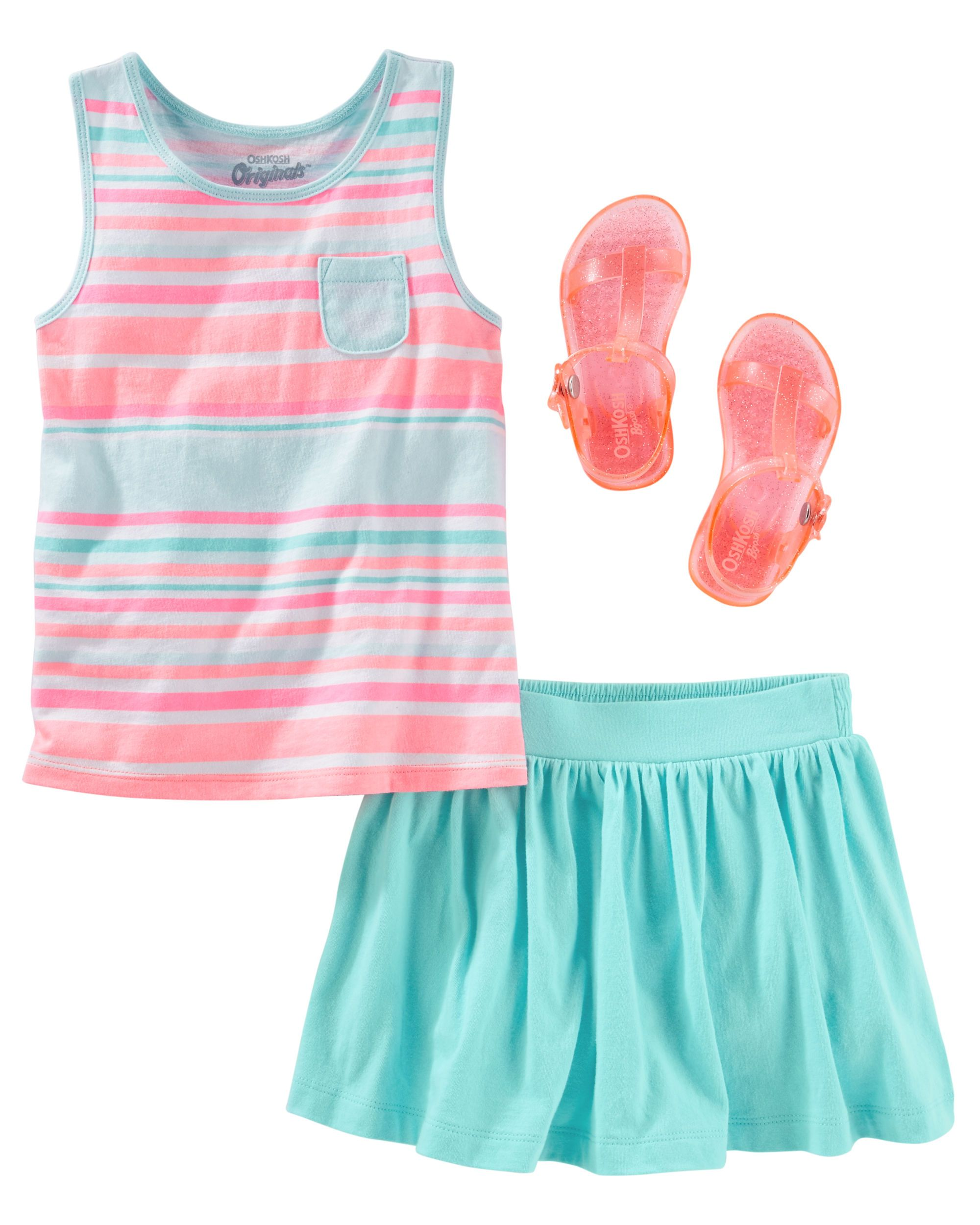 45ecb1552189 Nothing says summer like pretty pastels on pocket tanks and jelly sandals  (psst… they sparkle