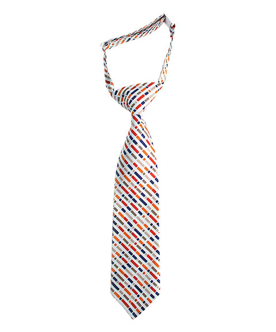 Look at this #zulilyfind! Orange & Blue Brickyard Tie by Trendy Ties #zulilyfinds