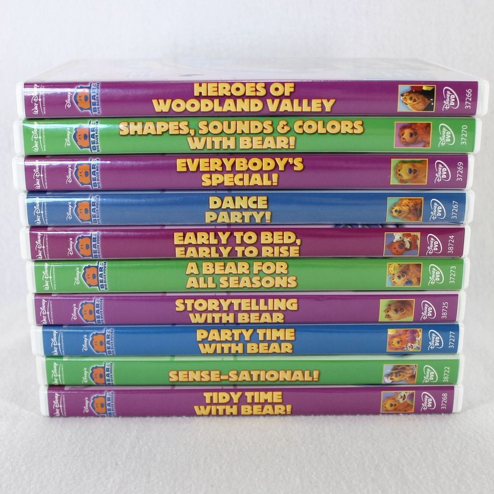 Bear In The Big Blue House DVD Movies Lot Of 10 Children