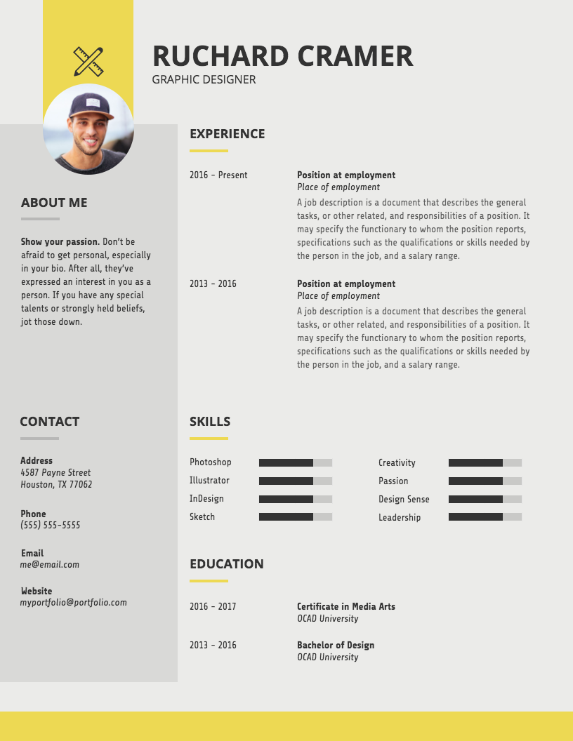 Modern Graphic Designer Resume Graphic Design Resume Resume