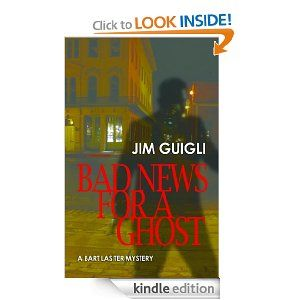"""""""Bad News for a Ghost"""" by Jim Guigli is touted as being a """"Bart Lasiter Mystery"""", implying there are or will be more 'Bart Lasiter Mysteries'. Bart Lasiter is a barely-scraping-by private investigator, formerly associated with the Berkeley Police Department, currently working out of a low-rent, cramped office/studio in Old Sacramento. In this novelette Lasiter is approached by the better-than-perfect TV newscaster, Marti Planker, to assist her in bringing closure to a s"""