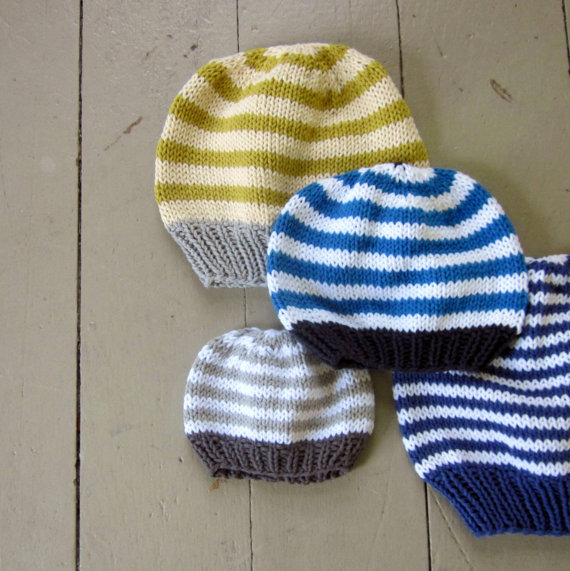 Pattern, basic hat knitting pattern, PDF knitted hat pattern ...