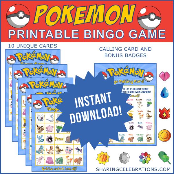 photograph relating to Printable Pokemon Party Games known as Pokemon Bingo Match! #printable #pokemon #occasion #match Suitable