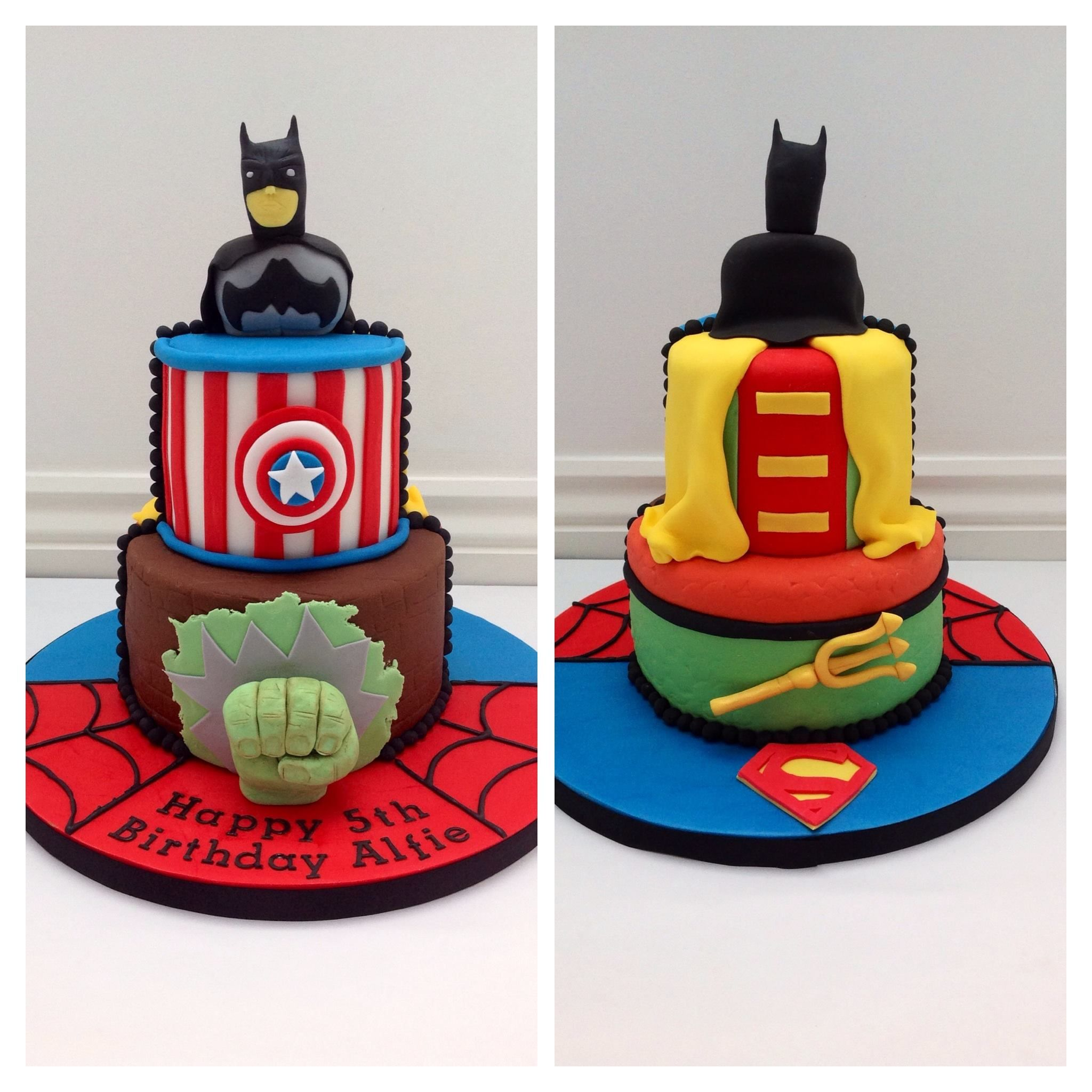 An Avengers Cake by Fancy Fondant Cakes By Fancy Fondant Emily