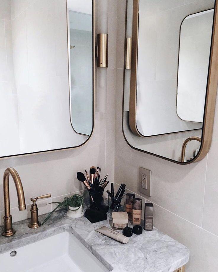 bathroom   interior   gold details
