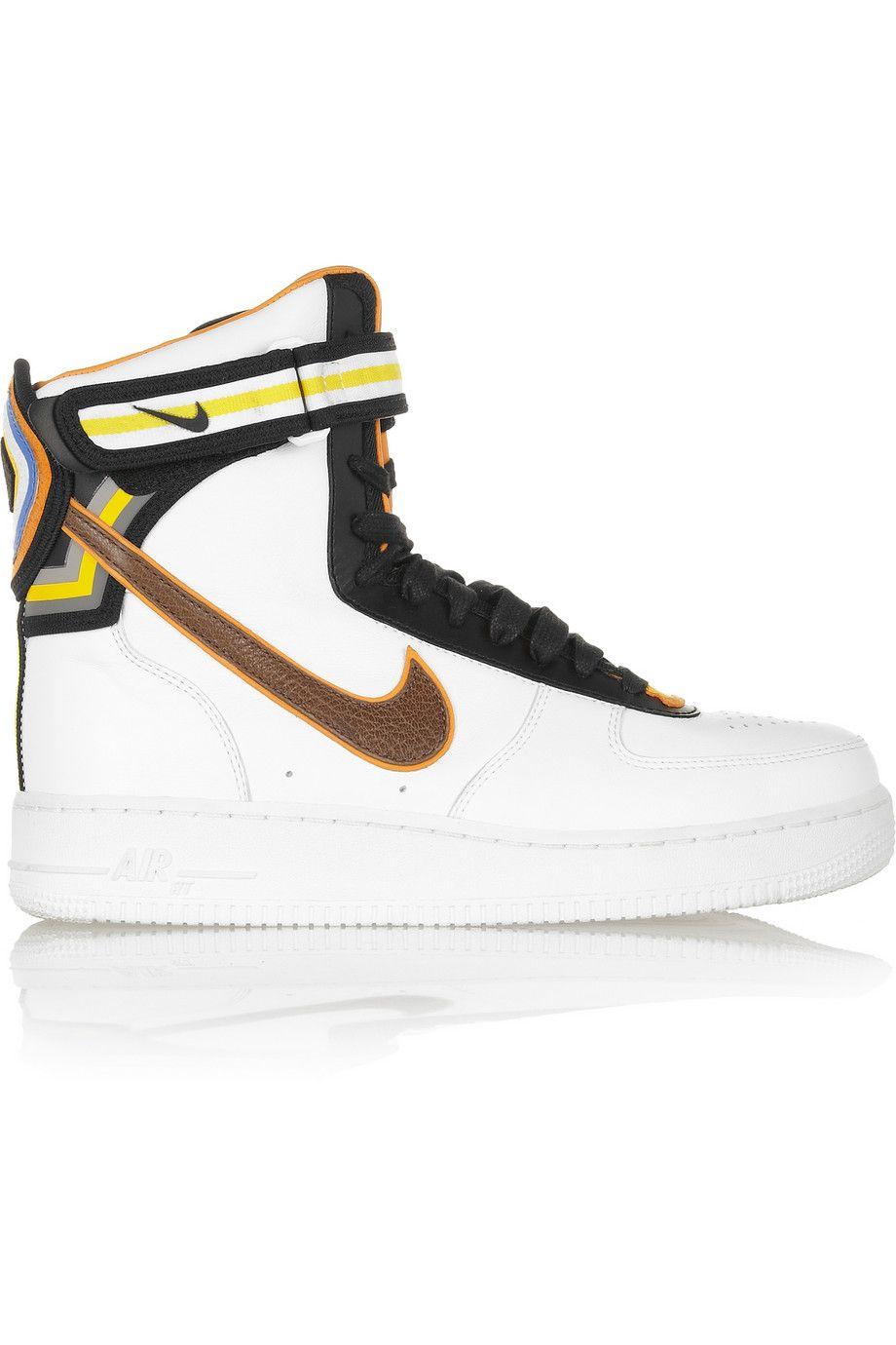 Nike | + Riccardo Tisci Air Force 1 leather hi-top sneakers | NET-