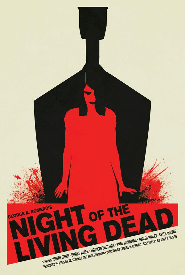 George A  Romero's Night of the Living Dead 24x36  $50 00