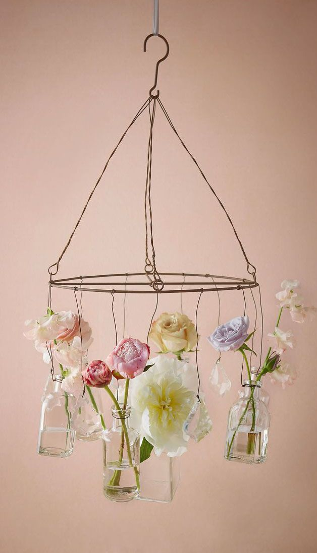 Crystalline Chandelier- could be made from metal hangers and ...