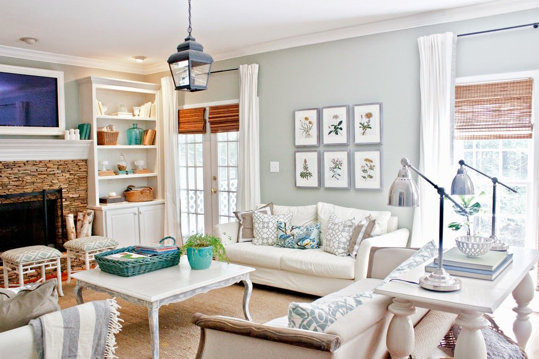 Gus lula the living room wall color sherwin williams - Sherwin williams comfort gray living room ...