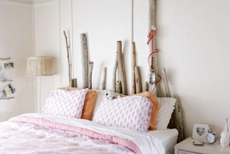 Tête de lit bois flotté pour une chambre d\'ambiance naturelle ...
